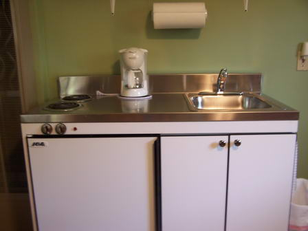 Both guest rooms have a kitchenette with fridge and cook top!